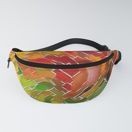 Upright Stained Twist Fanny Pack
