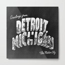 Greetings from Detroit Metal Print
