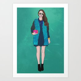 Touch of Pink Art Print