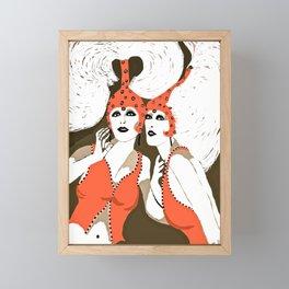 Woman Flappers Framed Mini Art Print