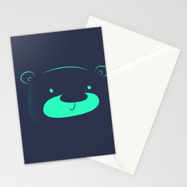 Neon bear Stationery Cards