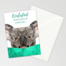 Koalafied book lover Stationery Cards