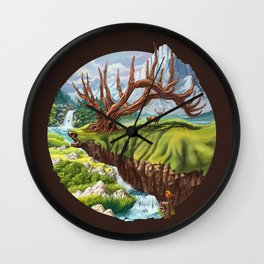Father Deer Wall Clock