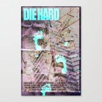 die hard Canvas Prints featuring Die Hard by Strangeland Studios