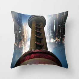 Shanghai - Oriental Pearl Tower Throw Pillow