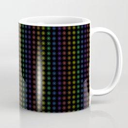 Rows of Rainbow Flowers Coffee Mug