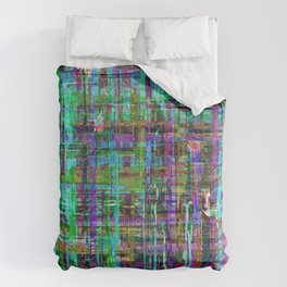 Abstract Distressed Stripes Multi-coloured 1211 Comforters
