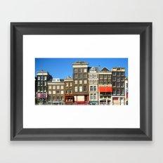 Line Up in Amsterdam. Framed Art Print