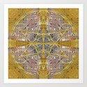 Golden Steampunk Geometry Star by webgrrl