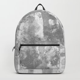 Ghost:gray ink splatter and washes Backpack