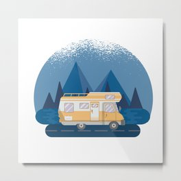 Motorhome Camping Caravan Van Metal Print