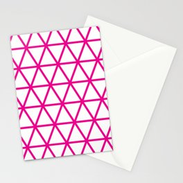 Pink Triangle Pattern 2 Stationery Cards