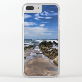 Widemouth Bay Rock Formation Clear iPhone Case
