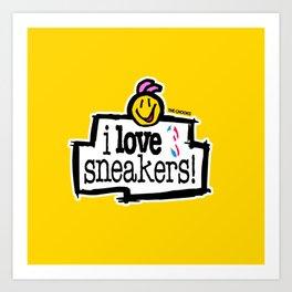 I love sneakers Art Print