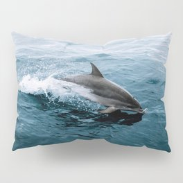 Dolphin in the Atlantic Ocean - Wildlife Photography Pillow Sham