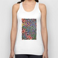 cracked Tank Tops featuring Cracked Earth by Klara Acel