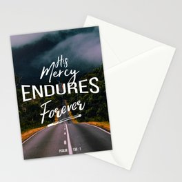 His Mercy Endures Forever Stationery Cards