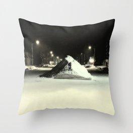 Silverton Colorado: Downtown at Night Throw Pillow