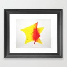 Geometric Sun Framed Art Print