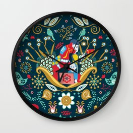 Technological folk art Wall Clock