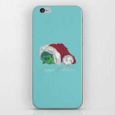 Happy Holiday Hedgehog by Chrissy Curtin iPhone & iPod Skin