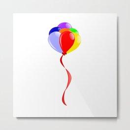 Flyaway Balloons Metal Print