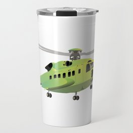 Green and Yellow Helicopter Travel Mug