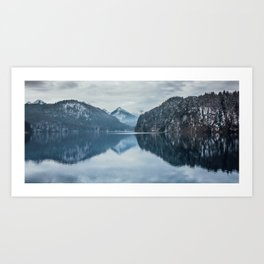 Alpsee lake,Bavarian alps Art Print