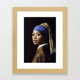 Bey with a Pearl Earring Framed Art Print