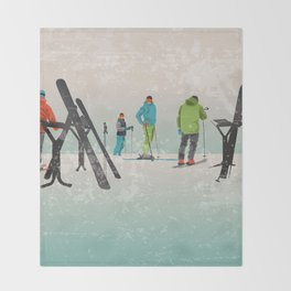 Skiers Summit Throw Blanket