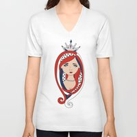 american V-neck T-shirts featuring American  by Gabriela Borges