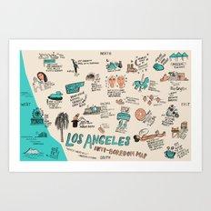 Anti-Boredom Map  Art Print