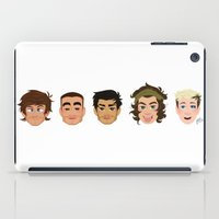 one direction iPad Cases featuring One Direction by pygmy