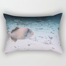 Maldives Wildlife Coral Fish In Turquoise sea Rectangular Pillow