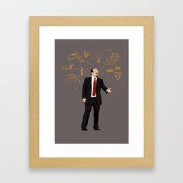 THE THINKER - Rafael Benitez Framed Art Print