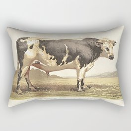 Dutch Bull (La Race Bovine Hollandaise) Rectangular Pillow