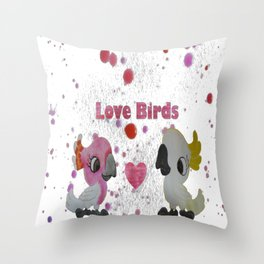 Love Birds - Cockatoos in Love Throw Pillow