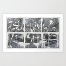Fade 2 Grey Art Print