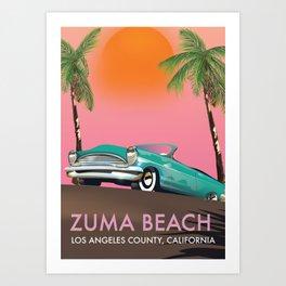 Zuma Beach Los Angeles County California Art Print