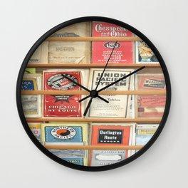 American Rail Brochures, Steamship Lines & More! Wall Clock