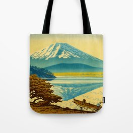 Japanese Woodblock Print Vintage Asian Art Colorful woodblock prints Asano Takeji Lake Shojin Tote Bag