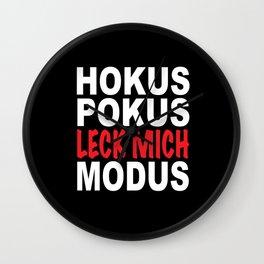 Hocus Pocus Lick Me Mode Funny Sayings Irony Wall Clock
