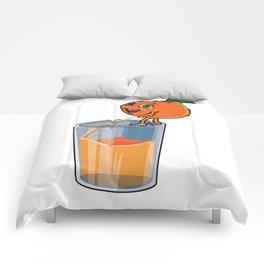 Freshly Squeezed Orange Juice Comforters