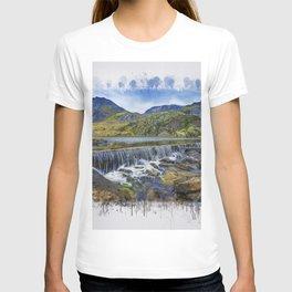Snowdonia Tryfan Painting T-shirt