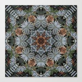 Spruce Cones And Needles Kaleidoscope K4 Canvas Print