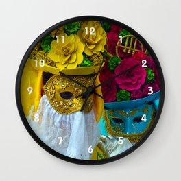 Carnevale of Venice Italy - Masquerade Mask Wall Clock