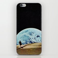 Moon walking iPhone Skin
