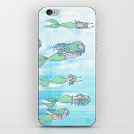 Mermaids dream by day iPhone Skin