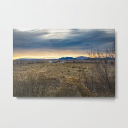 Forever West - Warm Light on a Cold Winter Morning in New Mexico Metal Print
