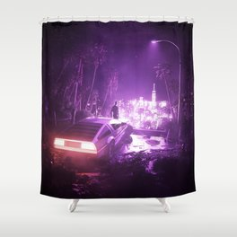 TIMEOUT | by RETRIC DREAMS Shower Curtain